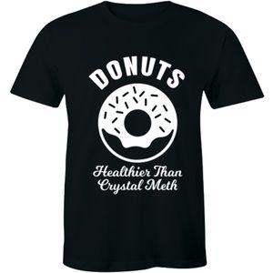 Donuts Healthier Than Crystal Meth T-shirt Tee